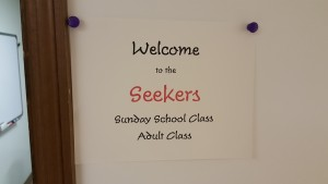 Seekers  Adult Class Located in Basement